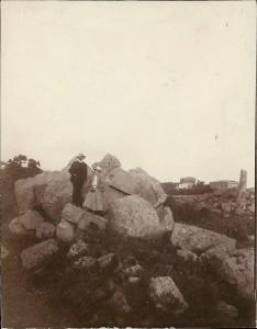 Presso il tempio di Ercole, foto amatoriale del 1904