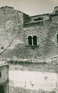 Castello dei Chiaramonte, particolare della facciata sud-ovest