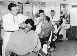 Salone barbiere Mussomeli, 1954