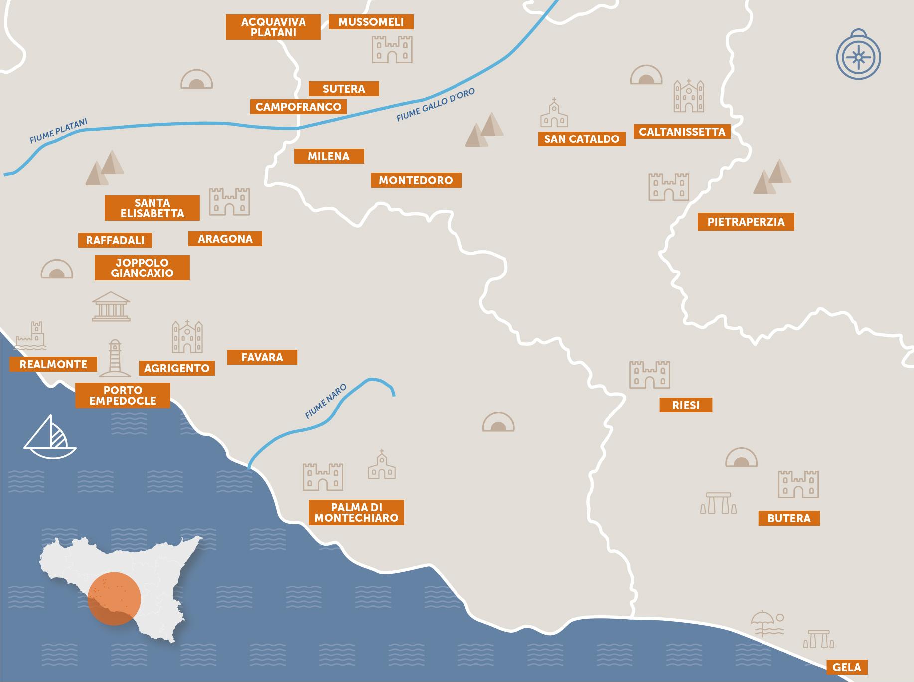 Mappa del distretto
